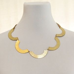Jewelry - Textured Gold Half Circle Statement Necklace